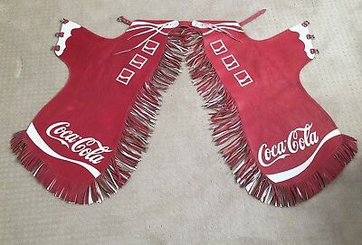 Rare Coca Cola 1980s Rodeo Chaps Made in the USA Genuine Leather