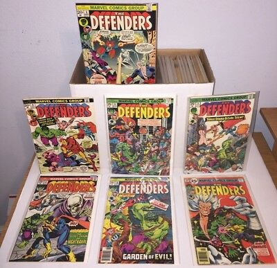 DEFENDERS 61 issue lot Bronze Age includes 1st app Korvac Giant Size #3