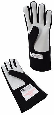 Late Models Racing Sfi 3.3/5 Gloves Double Layer Driving Gloves Black 2X