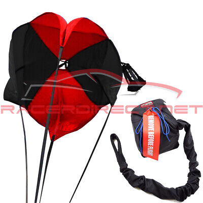 Drag Racing Parachute Black & Red Drag Chute Racing Sportsman