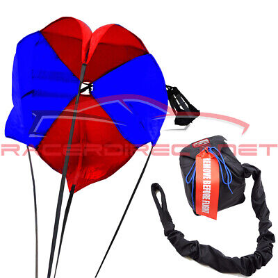 Drag Parachute Spring Loaded Red & Blue Drag Chute Pro Spring Parachute