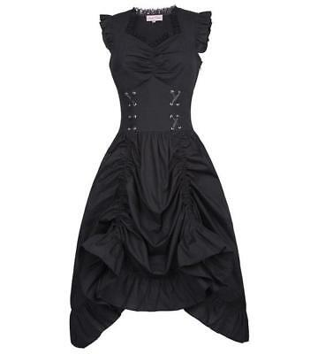 Black/Brown Medieval Renaissance Clothing Corset Steampunk Dress