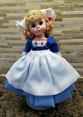 "Vintage Madame Alexander #591 Netherlands Girl 8"" Doll in Original Box Stand MIB"