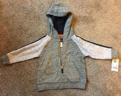 OshKosh Baby B'gosh Grey Zipped Hoodie 9M Months 67-72cm BNWT Boys Girls Gift