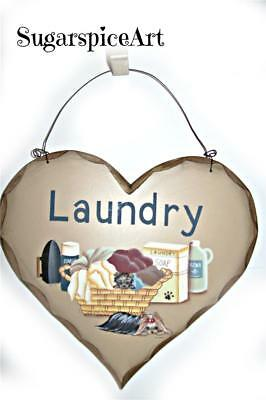 Yorkie Handpainted Laundry Sign by SugarspiceArt