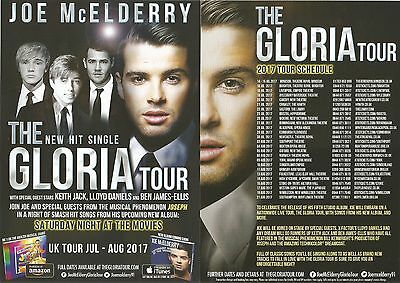 Joe McElderry Gloria Tour '17 Keith Jack Lloyd Daniels Ben James-Ellis Flyer x 4