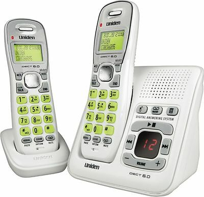 NEW UNIDEN DECT1635+1 Home/Office CORDLESS PHONE +POWER FAILURE BACKUP 2 HANDSET