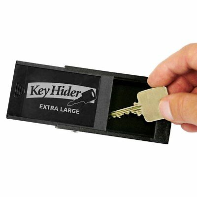 """Magnetic Key Hider, Heavy Duty Extra Large 8"""" x 2-1/8"""" x 5/8"""" Inch, 1 Pack Black"""