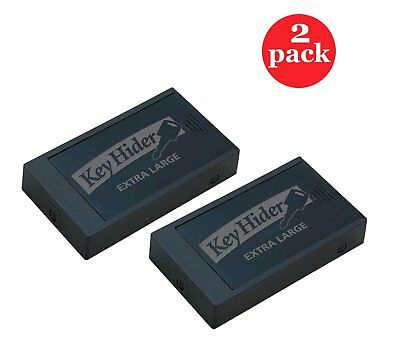 """Magnetic Key Hider, Heavy Duty Extra Large 8"""" x 2-1/8"""" x 5/8"""" Inch, 2 Pack Black"""