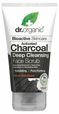 Activated Charcoal Face Scrub 125ml - Dr Organic
