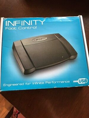 Infinity USB Digital Foot Control with Computer plug IN-USB2 Dictation Office