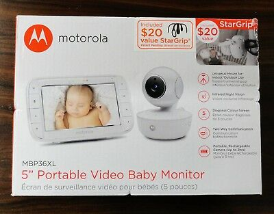 "Motorola 5"" Portable Video Baby Monitor MBP36XL Brand NEW in The Box Ships Free"