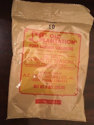 Legg's Old Plantation Pork Sausage Seasoning 8oz
