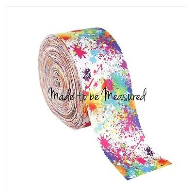 Grosgrain Ribbon - 3 Inch - 75 mm - Print by the Metre - Paint Splats