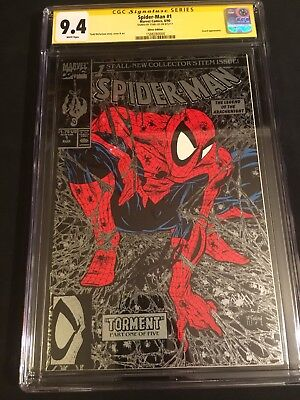 Spider-Man 1 CGC SS 9.4 Signed Stan Lee 1990 Silver McFarlane