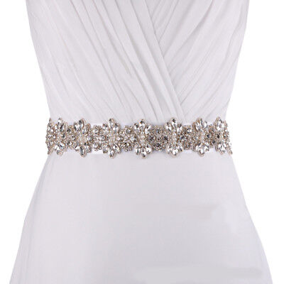 Luxury Women's Crystal Rhinestone Bridal Wedding Sash Belts