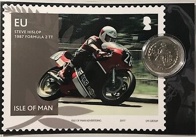 Motorsport Isle of Man TT Races 50p coin in presentation card. Motorcyclist gift