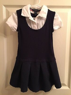 FRENCH TOAST Uniform Dress Toddler Girl Size 4 GUC
