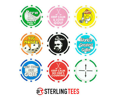Golf Ball Marker -  Poker chips -  Various Fun Designs Available - Free  UK P&P