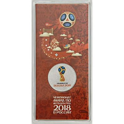 25 rubles 2018 FIFA World Cup Russia (special color edition) FREE SHIPPING
