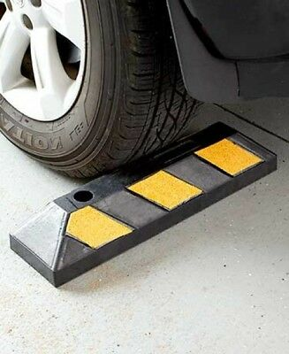 Stopper Parking Curb Wheel Stops Garage For Cars Motorcycle Driveway Rubber RV
