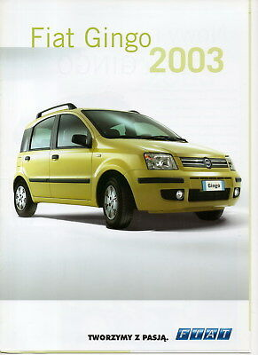Fiat Gingo car (made in Poland) _2003 Prospekt / Brochure