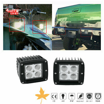 Club Car Golf Cart 2Pcs 4Inch 36W LED Light Bar Flood Offroad Driving Fog Lamp