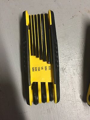 Stanley Folding Hex Key Set NEW 9-piece SAE