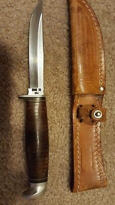 Vintage CASE XX Tested 3 FINN SSP Fixed Blade Hunting Knife MINT CONDITION 8 3/4