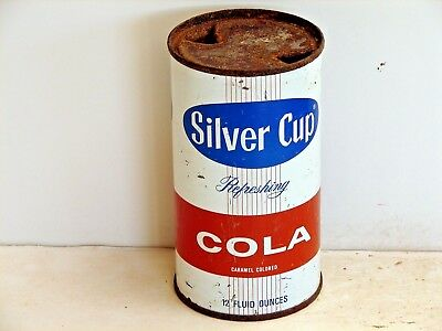 Silver Cup Cola; Franklin Park, IL; Steel solid top / flat top soda pop can