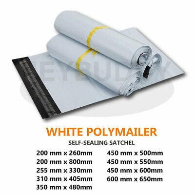 8 Size Poly Mailer Plastic Satchel Courier Self Sealing Shipping Bag 200mm-800mm