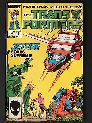 1985 Marvel THE TRANSFORMERS # 11, First Appearance of Jetfire, Very Fine!