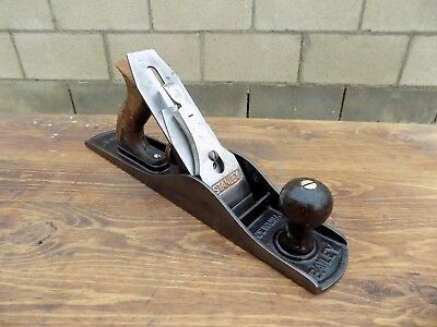 Vintage Stanley Bailey No.5 Jack Plane Smooth Bottom Made In USA Nice Old Plane
