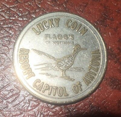 Vintage Lucky Coin - Flagg's Of Scottsdale - Resort Capitol Of Arizona