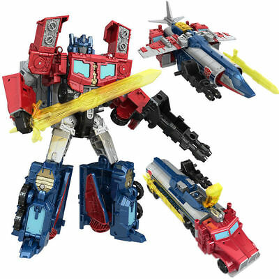 "Transformers Generations Titans Return Voyager DIAC Optimus Prime 7"" Toy Figure"