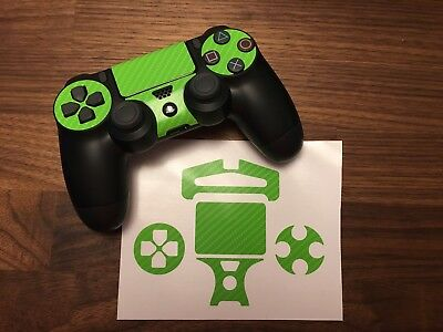 Neon Green Carbon Skin For Sony Playstation 4 Dualshock Wireless Controller PS4
