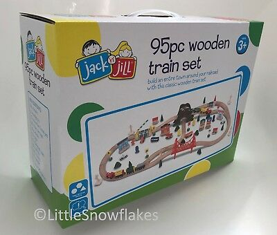 Wooden Train Set 95 pcs Deluxe Metropolis Toy Railway Kids Activity Brio/Thomas