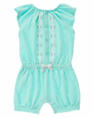 NWT Gymboree Seaside stroll Blue embroidered girls romper 4T,5T Toddler