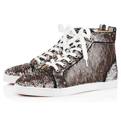 4be1d44e98f8 Christian Louboutin BIP BIP Woman Orlato Sequin Hi High Top Sneakers Shoes   995