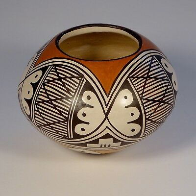 Helen Naha Feather Woman Polychrome jar Batwing Design from 25 POT COLLECTION