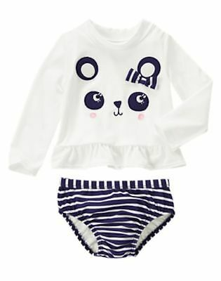 NWT Gymboree  Swimsuit Panda Rash Guard FLOWER SHOWER 6 12 18 24 mo 2T 3T 4T