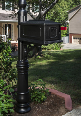 heavy duty mailbox. Gibraltar Black Mailbox Post Combination Heavy Duty Rust Resistant Mail Delivery