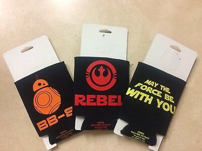 3 New Star Wars Koozies *keeps Your Can Cool And Your Hands Dry *free Shipping*