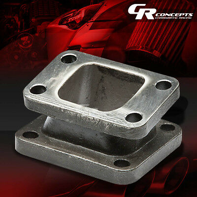 T3-T4 Cast Iron Angle Flange Turbo Charger Manifold Exhaust Conversion Adapter
