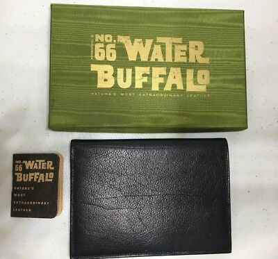 Vintage WALLET NO. 66 WATER BUFFALO- Natures most extraordinary Leather NIB