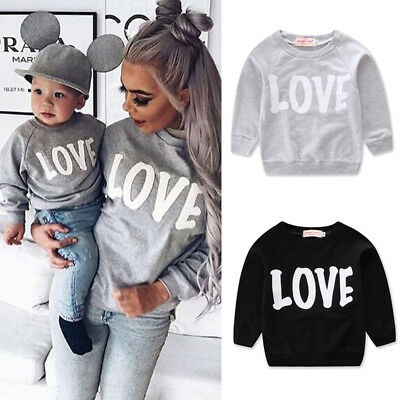 Family Matching Outfits Mother Daughter Son Women Girls Boys Top T-Shirt Clothes