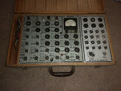 Old Tube Tester Anko Teletest With Charts