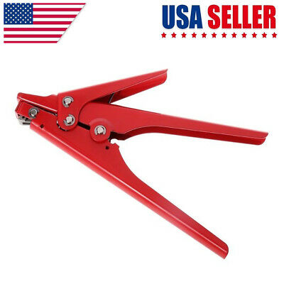 Heavy Duty Hand Cable Tie Gun Tensioning Cutting Tool Plastic Nylon Fastener US