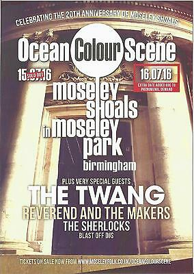 Ocean Colour Scene  Moseley Shoals  Birmingham Park Concert The Twang  Flyer x 2