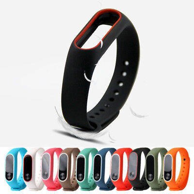 Silicon Wrist Strap WristBand Bracelet For XIAOMI MI Band 2